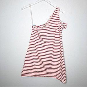 Anthropologie | Maeve One Shoulder Striped Dress